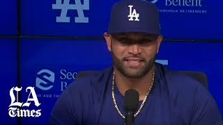 Albert Pujols talks as a Dodger for the first time