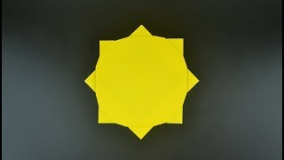 Origami: SUN Ninja Star - Instructions in English (BR)