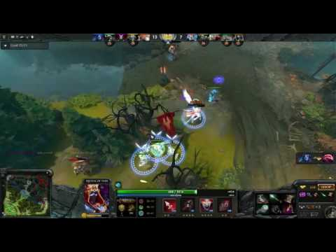 Dota 2 - Alien Miracle play queen of pain go mid lane rush veil of discord