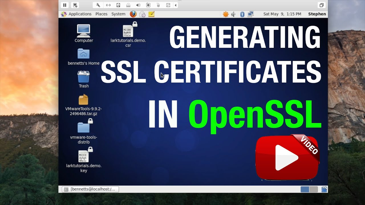 Ssl Certificates In Openssl Centoslinux Youtube