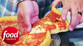 How To Make The Perfect Chicago Deep Dish Pizza | Diners, Drive-Ins & Dives