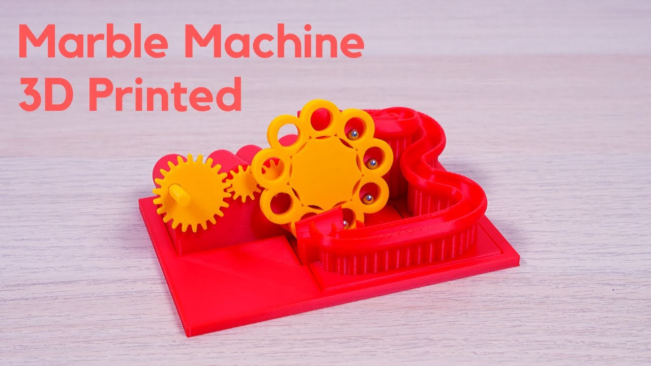 Download 3D Printed Marble Machine with hand crank