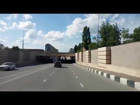 Город ГРОЗНЫЙ, маршрут автобуса 7, от Автовокзала до Центра