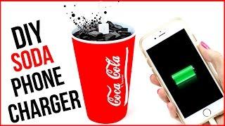DIY Crafts: Coca Cola Phone Charger - Soda DIYs - Cool DIY Project!