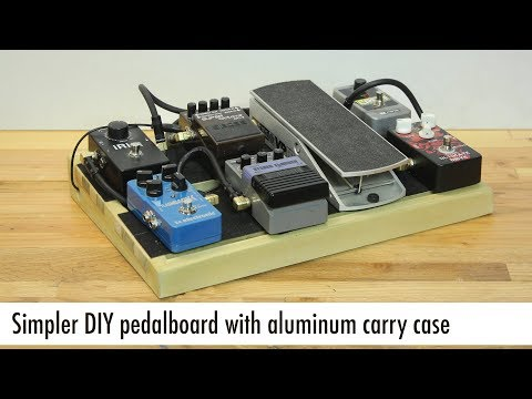 Simpler DIY guitar pedalboard with aluminum carry case