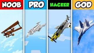 NOOB vs PRO vs HACKER vs GOD : FIGHTER JET in Minecraft! (Animation)