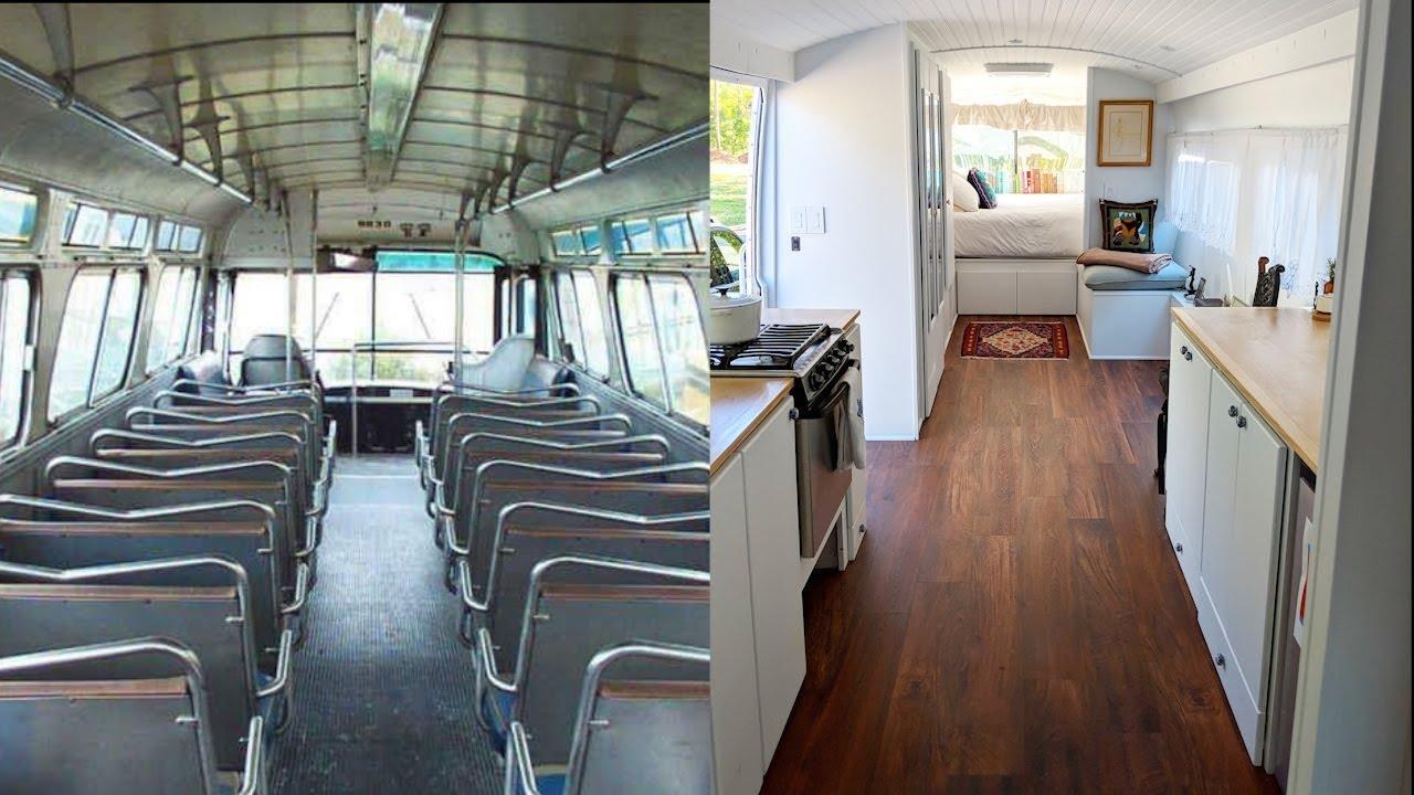 Un bus transformé en un fantastique mobile-home!