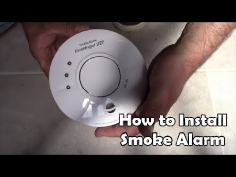 How To Install Mains Powered Smoke Alarms Wiring Smoke Alarm Fire