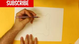 HOW TO DRAW A PORK CUTE, Easy step by step drawing lessons for kids