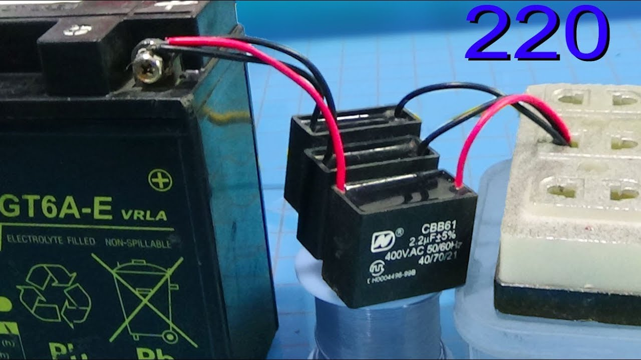 How To Charge The Battery With Fan Capacitor Without Transformer Circuit Capacitors And A