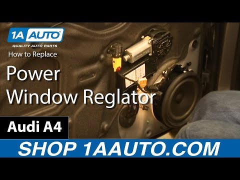 How To Fix Replace Broken Front Power Window Regulator 2003-08 Audi A4 S4 RS4
