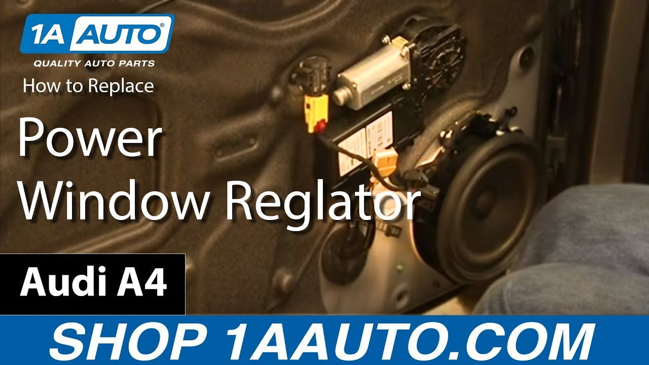hight resolution of how to replace front power window regulator 03 08 audi a4