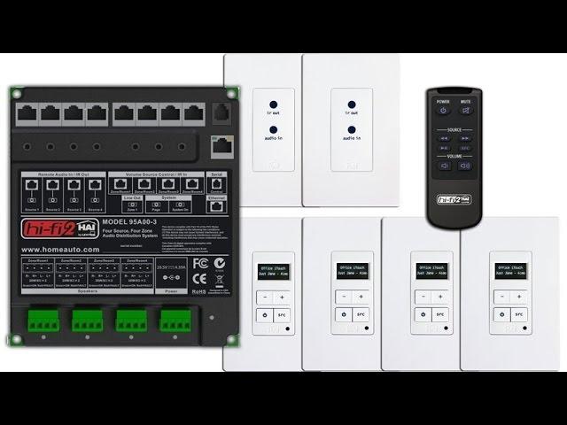 Leviton 95A04-2 Bluetooth Remote Input Module for Hi-Fi 2 Distributed Audio System