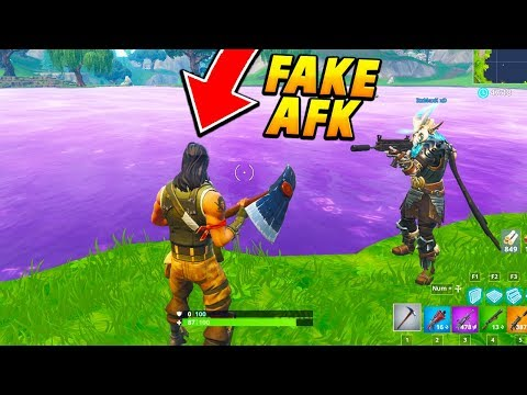 I pretended to be a FAKE AFK DEFAULT at LOOT LAKE.. (Fortnite Battle Royale)