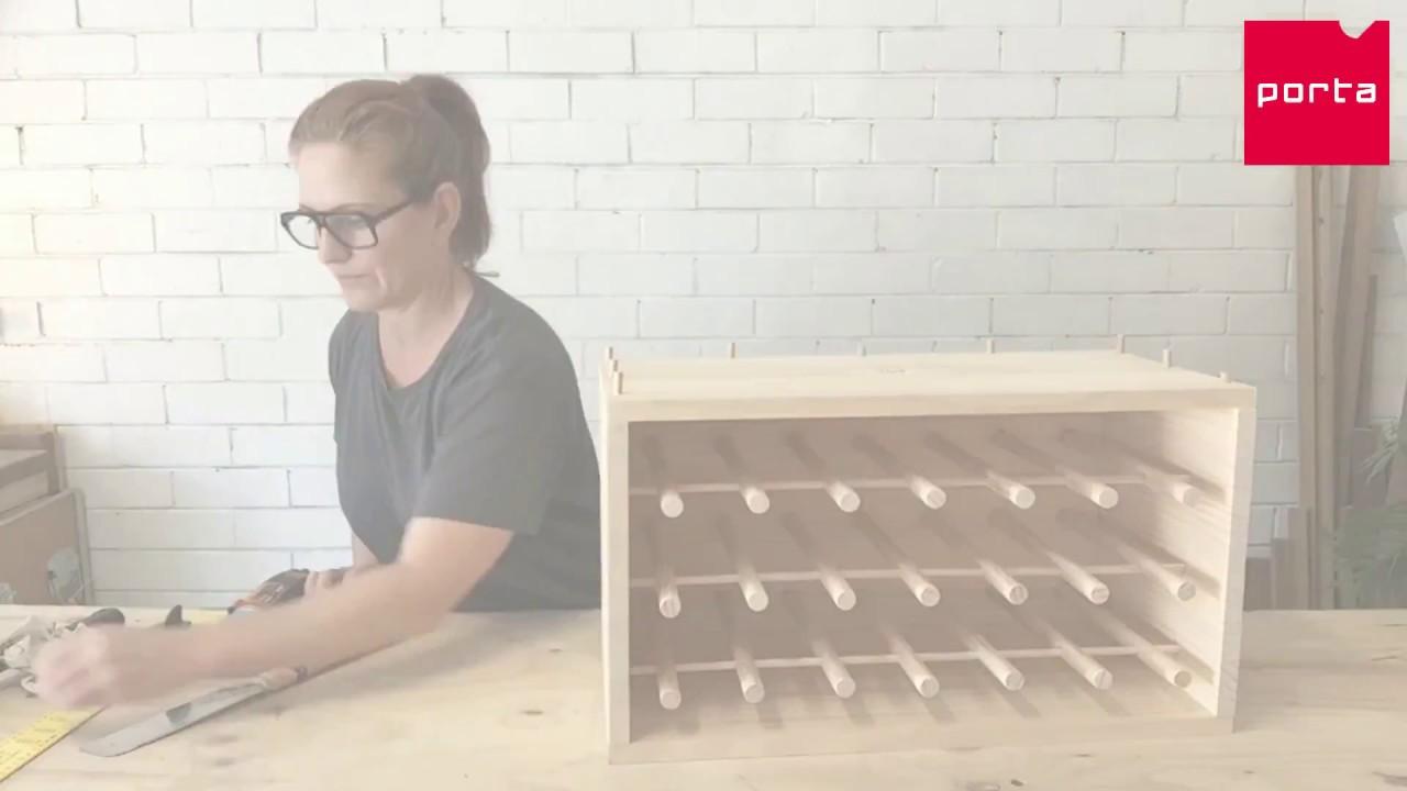 porta make your own wine rack longer version