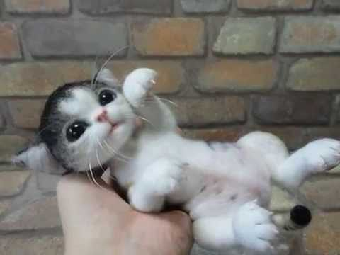 (Kitten) Handmade needle felting doll (Part 2) ...Seven kitten dolls