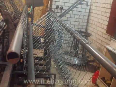 изготовление сетки Рабица из проволоки диам. 2,5мм высотой 1,8м в г.Кольчугино. 2 часть