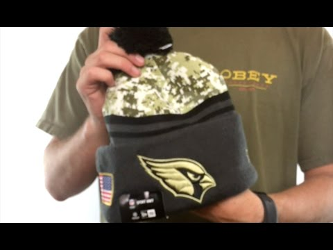 Cardinals  2016 SALUTE-TO-SERVICE  Knit Beanie Hat by New Era - YouTube 52718fdca