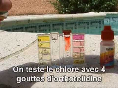 tests de ph et de chlore d 39 une piscine youtube