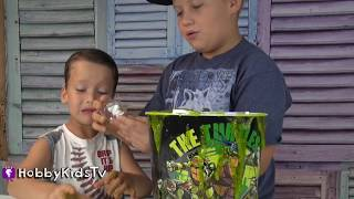 Slime Surprise! Teenage Mutant Ninja Turtles Toys, TMNT HobbySpider  HobbyKidsTV
