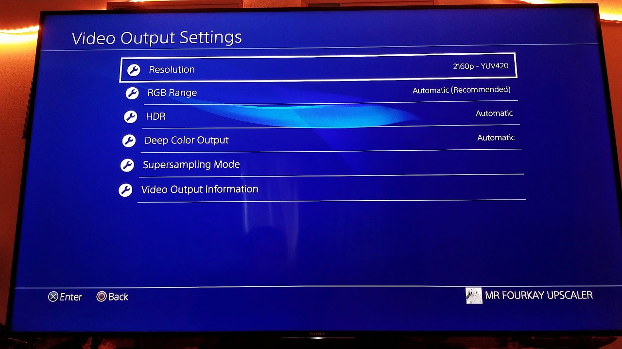 My Recomended Video Output Settings for PS4 Pro | Sony X900E