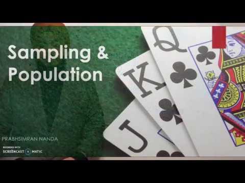Sampling and Population Statistics