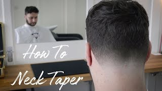 HOW TO NECK TAṖER 💈 EASY TO FOLLOW STEP BY STEP BEGINNER BARBER TUTORIAL