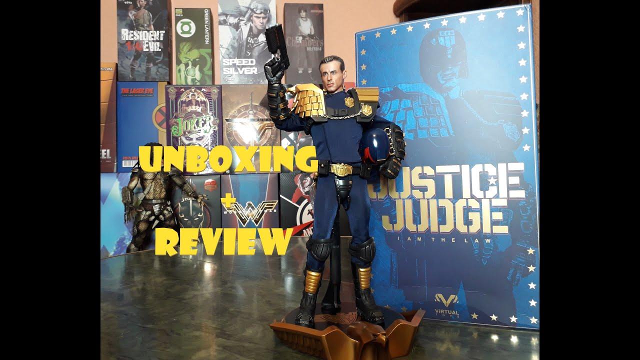 "VIRTUAL TOYS JUSTICE JUDGE 12/"" 1//6 ACTION FIGURE 1995 JUDGE DREDD STALLONE U.S."