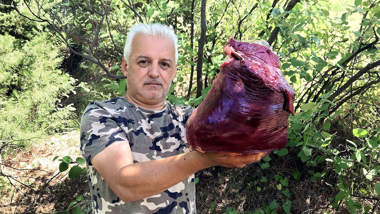 5 kg DANA CİĞERDEN | Arnavut Ciğeri Nasıl Yapılır? | Ciğer Kavurma | Doğada Yemek