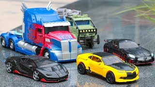 Transformers 5 TLK Autobots Bumblebee Drift Hot Rod Hound Oversized Optimus Prime Robots Car Toys