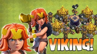 "V IS FOR VIKING!!! "" Clash of clans "" VALKYRIE THE VIKING!!!"