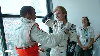 Hey guys, it's nico here! :)i'm taking off to oz now. have some good memories from melbourne where i scored my first ever f1 podium in 2008...enjoy watching!...