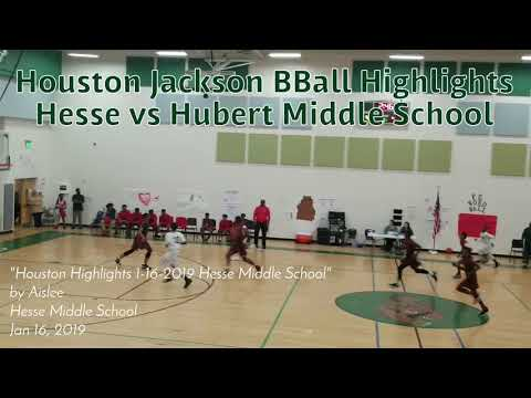 Houston Jackson Basketball Highlights 1-16-2016, Hesse vs Hubert Middle School