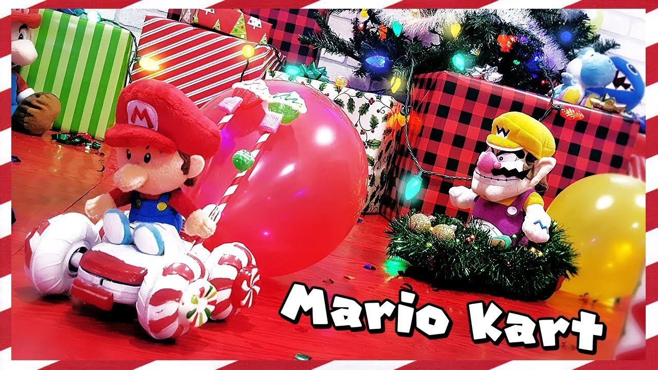 Christmas Mario Kart.Real Life Mario Kart Battle Christmas Edition