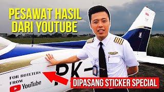 BELI PESAWAT DARI HASIL YOUTUBE - Pesawat Prtama Indonesia Dr Youtube MotoMobi Fitra Eri Dyland Pros