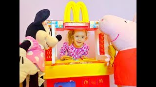 McDonald's Drive Thru Kids Pretend Play with Kitchen Toy Playset