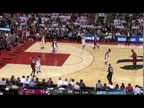 "LeBron James tells CJ Miles ""Get his lil a*s off him"" on AND-1: Cavaliers vs Raptors"