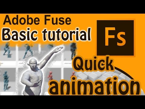 Adobe Fuse CC Free Tutorial - Animation 3D characters