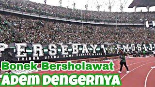 Merinding Mendengar Ribuan Bonek Green Nord Bersholawat Dan Lakukan Opening Chant