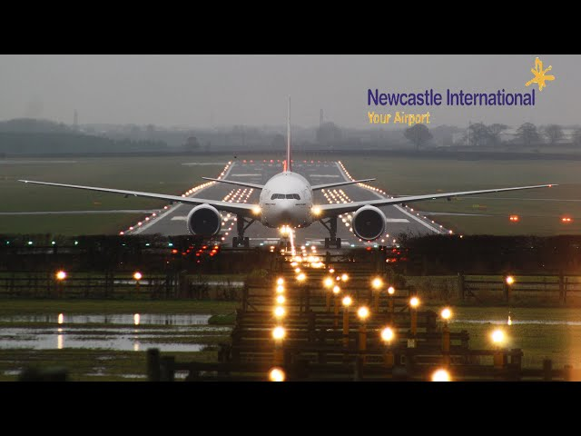 Wet and Foggy at Newcastle International Airport 26th November 2019