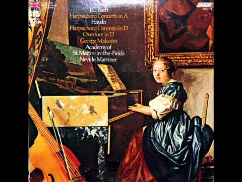 Haydn / George Malcolm, 1969: Harpsichord Concerto In D Major - Movement 1 - Marriner