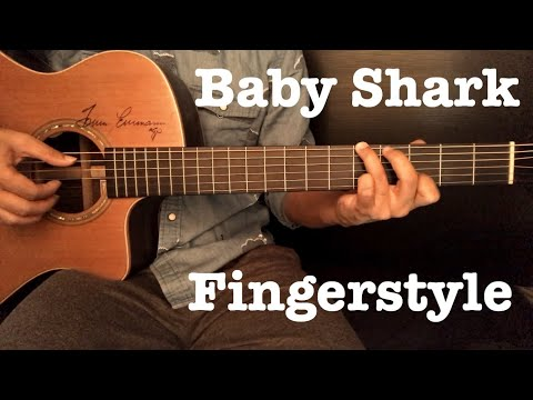 Baby Shark - PinkFong Fingerstyle Guitar Cover By Toeyguitaree (Tab)