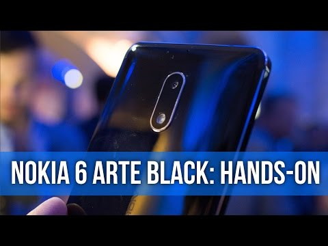 So Shiny! Nokia 6 Arte Black hands-on preview