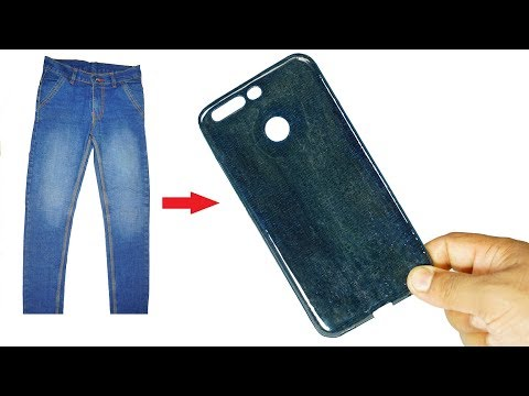 How to make mobile case from old jeans I DIY hard mobile cover