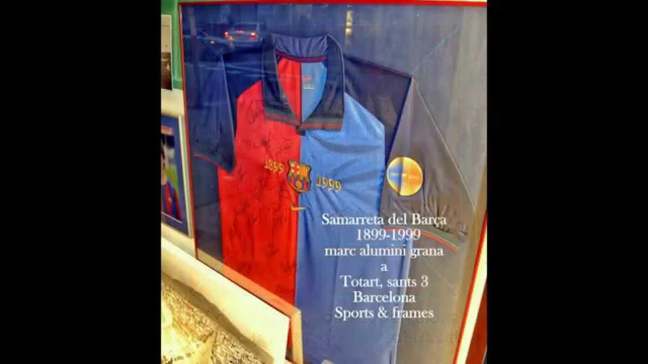 Cuadros de camisetas Enmarcadas TOTART Barcelona - YouTube