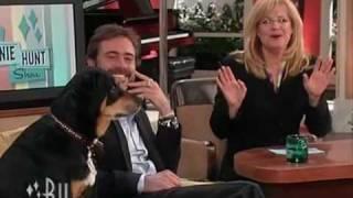 The Bonnie Hunt Show guest Jeffrey Dean Morgan and his pup Bisou 03-12-09