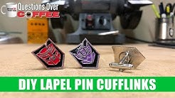 DIY Lapel Pin Cufflinks - Questions Over Coffee 08