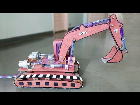 Thumbnail: How to Make a Remote Control Hydraulic Excavator / JCB at Home
