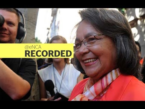Outgoing Cape Town Mayor Patricia de Lille delivers her farewell speech