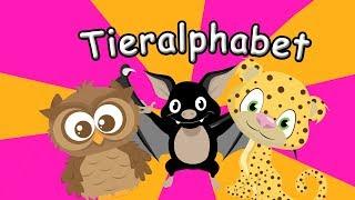 Tieralphabet Deutsch - Alpahebt lernen mit Tieren - Deutsch lernen für Kinder
